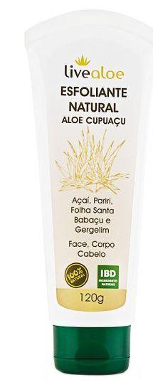 Esfoliante Natural Aloe Cupuaçu 120ml - Livealoe