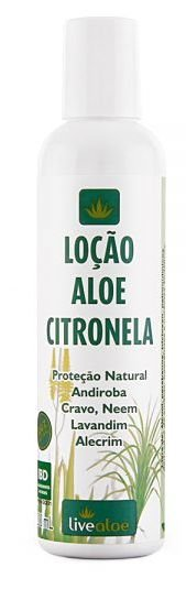 Loção Natural Aloe Citronela 200ml – Livealoe