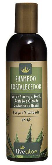 Shampoo Natural Fortalecedor 240ml - Livealoe