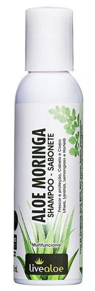 Shampoo e Sabonete Multifuncional Aloe Moringa 120ml – Livealoe