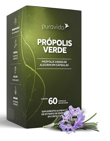 Própolis Verde 60 cápsulas - Puravida
