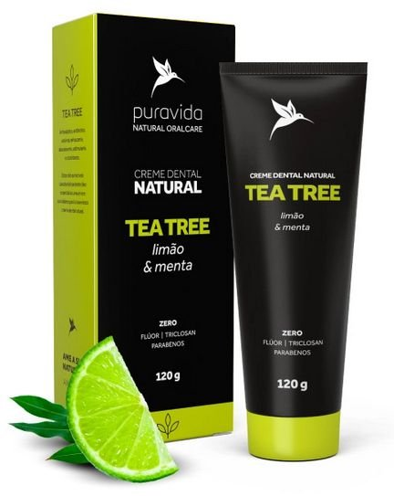 Creme Dental Natural Tea Tree 120g - Puravida