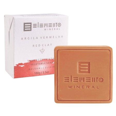 Sabonete Argila Vermelha 100g - Elemento Mineral