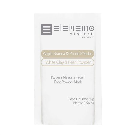 Argila Branca com Pó de Pérolas 30g - Elemento Mineral