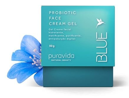 Blue Probiotic Face Cream Gel 50g - Puravida