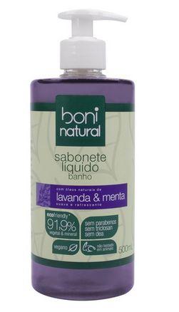 Sabonete Líquido Lavanda e Menta 500ml - Boni Natural