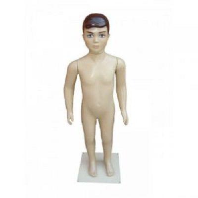 Bege - Manequim Infantil Masculino Completo