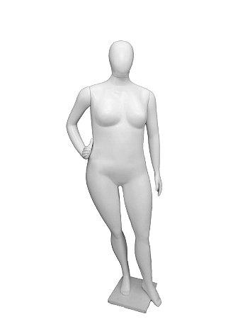Branco - Manequim Feminino Plus Size Com 3 Braços