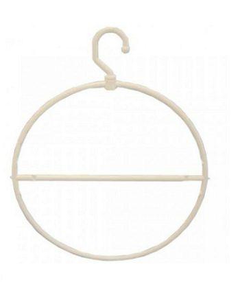 Branco - Cabide Circular Redondo