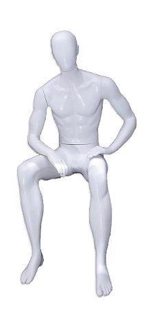 Branco - manequim sentado