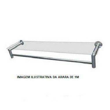 Arara Tubular L Cromada - 1,00M/ 2,00M/3,00M
