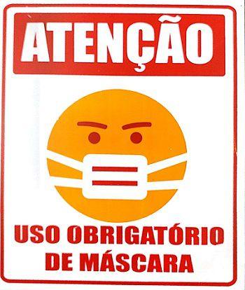 Etiqueta De Uso Obrigatório de Mascara