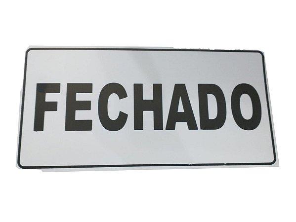Placa Aberto/Fechado