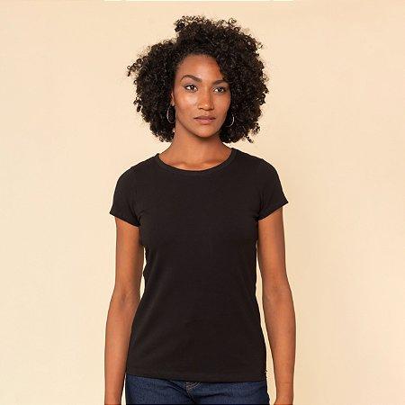 Blusa Feminina Decote U Algodão Com Elastano