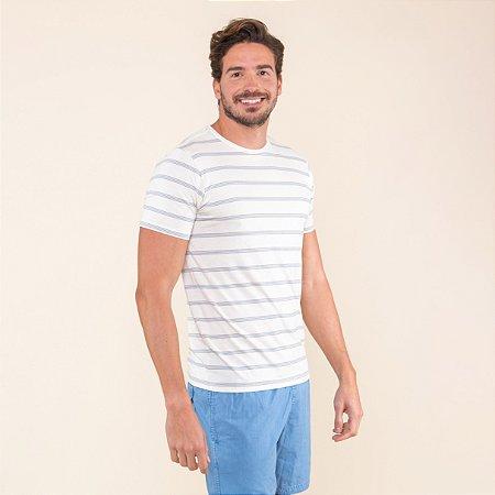 Camiseta Masculina Linho Listrada
