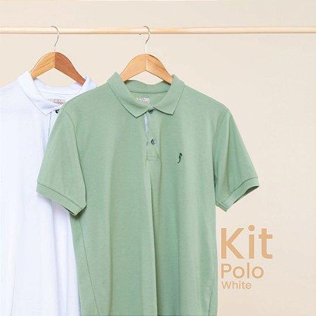 Kit Polo Básica White