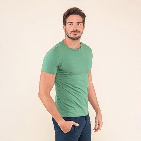 Camiseta Masculina Básica Com Elastano