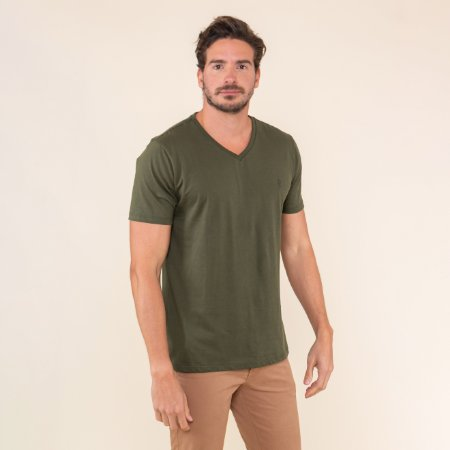 Camiseta Masculina Basica Gola V