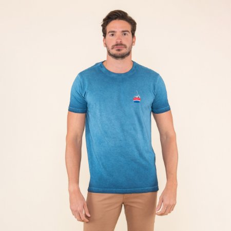 Camiseta Masculina Estonada Veleiro