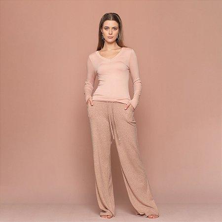 Blusa Feminina Decote V Sem Costura