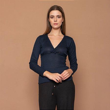 Blusa Feminina Decote Transpassado