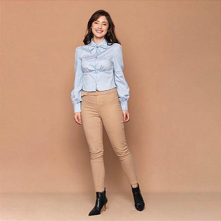 Camisa Feminina Gola Laço