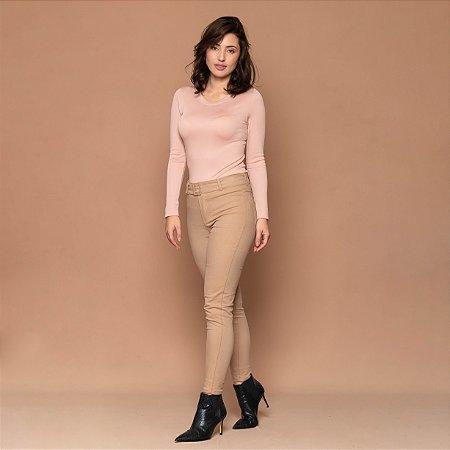 Blusa Feminina Decote Redondo Sem Costura