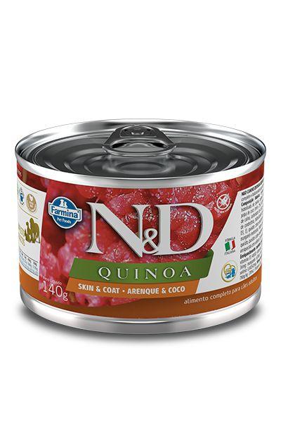Ração Úmida Farmina Nd Quinoa Arenque 140g para Cães