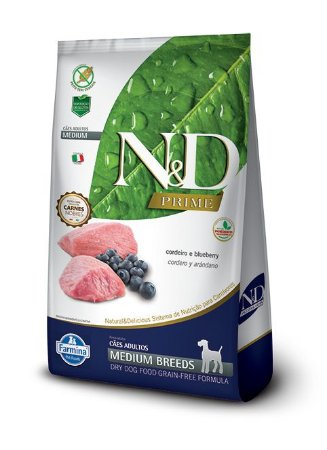 Ração Farmina Nd Prime Cordeiro 10,1kg para Cães Adultos Raças Médias