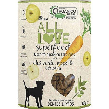 Biscoito Orgânico All Love Superfood  Chá, Maçã & Cenoura Sabor Chá Verde, Maçã & Cenoura