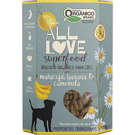 Biscoito Orgânico All Love Superfood Sabor Maracuja, Banana & Camomila
