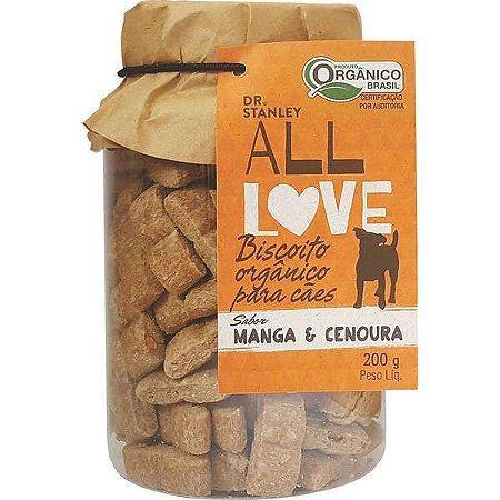Biscoito Organico All Love Sabor Manga & Cenoura 200gr
