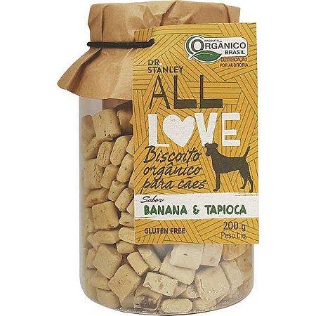 Biscoito Organico All Love Gluten Free 200gr Sabor Banana & Tapioca