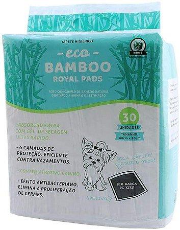 Tapete Higiênico Eco Bamboo Royal Pads Beeva - Pacote com 30 Unidades - 80 X 60 Cm
