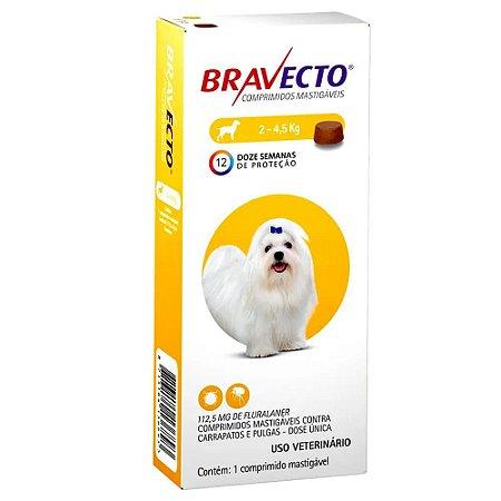 Bravecto Antipulgas E Carrapatos Para Cães 2 A 4,5kg