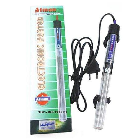 Aquecedor Com Termostato Atman 300w At300 P/ Aquarios