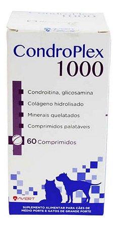 Condroplex 1000mg Supl. P/ Cães E Gatos 60 Comprimidos