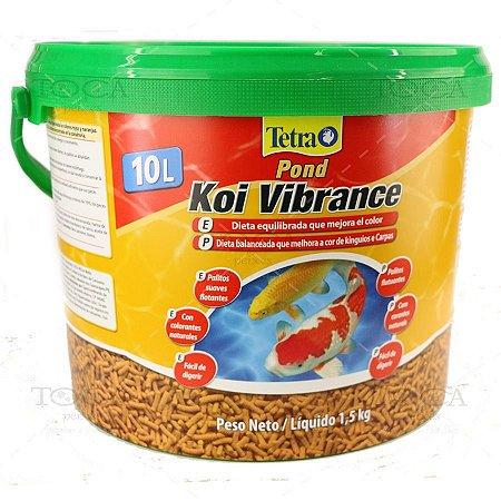 Ração Tetra Pond Koi Vibrance Sticks em Palitos 10l 1,5kg
