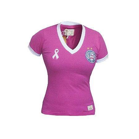 Camisa Retrô Feminina EC Bahia - Outubro Rosa