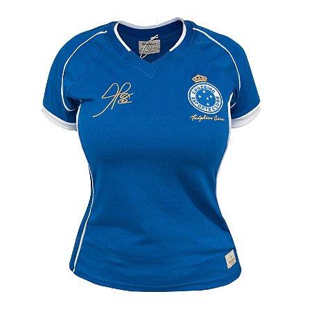 Camisa Retrô Feminina Cruzeiro 2003 Tríplice Coroa Alex