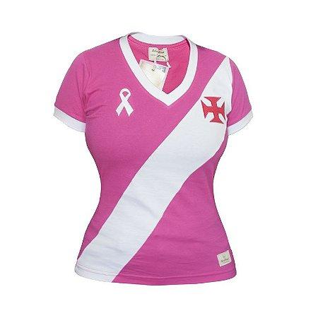 Camisa Retrô Feminina Vasco da Gama - Outubro Rosa