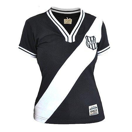 Camisa Retrô Feminina Ponte Preta 1977 Preta