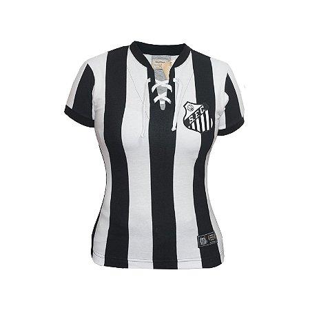 Camisa Retrô Feminina Santos 1913 Listrada
