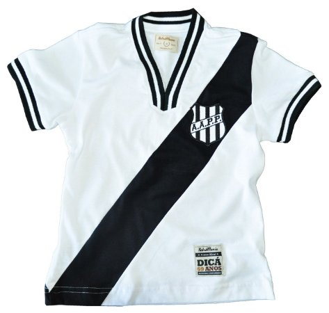 Camisa Retrô Infantil Ponte Preta 1977 Branca