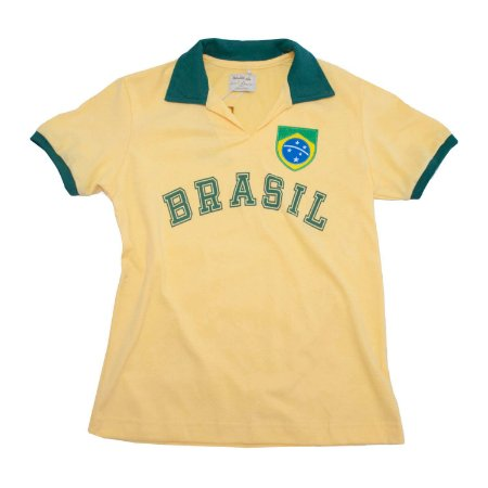 Camisa Retrô Juvenil Brasil - Fenda Amarela