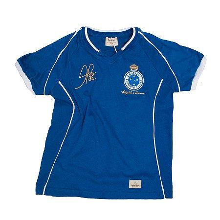 Camisa Retrô Juvenil Cruzeiro 2003 Tríplice Coroa Alex