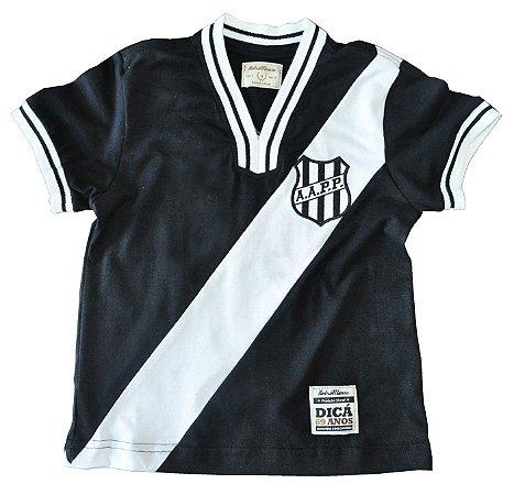 Camisa Retrô Juvenil Ponte Preta 1977 Preta