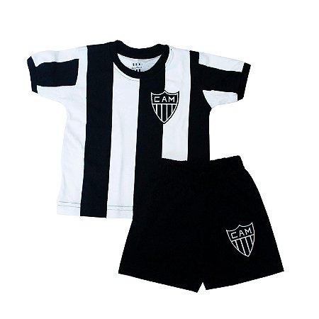 Kit Infantil Camisa Retrô Atlético Mineiro 1971