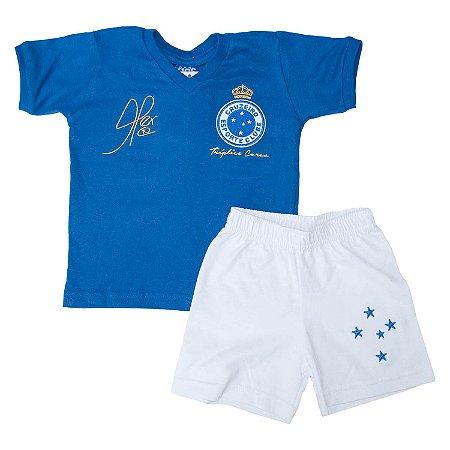 Kit Infantil Camisa Retrô Cruzeiro 2003 Alex