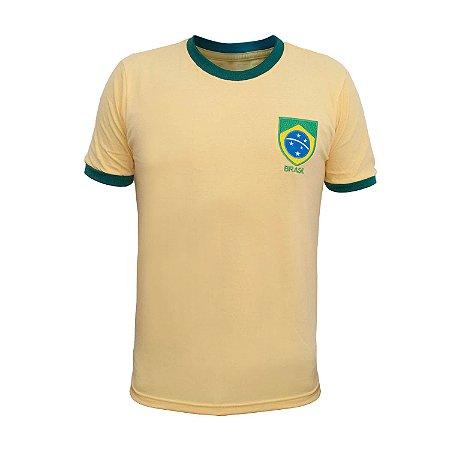 Camisa Retrô Brasil - Careca Amarela